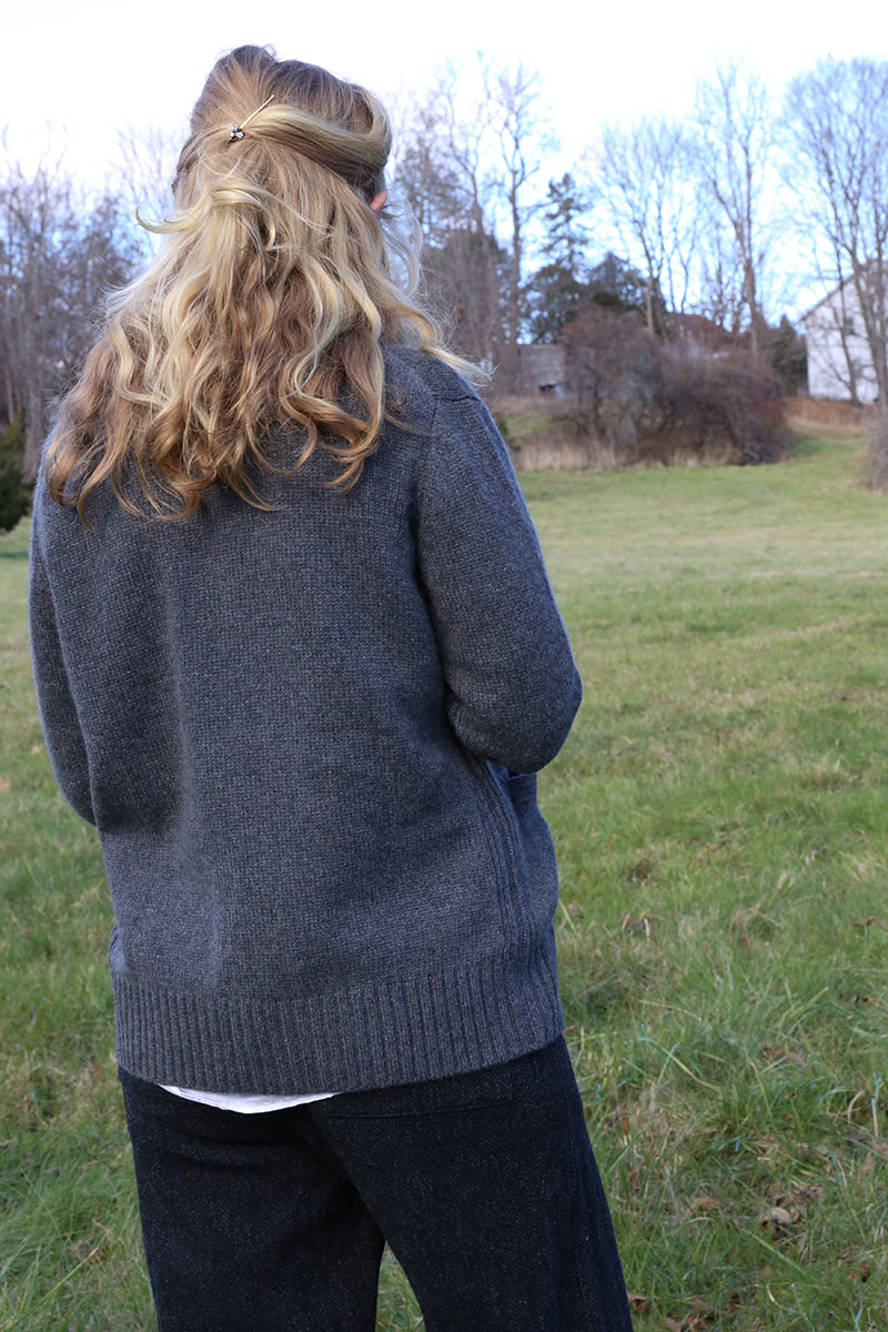 Charcoal Cashmere Roll-Neck Sweater