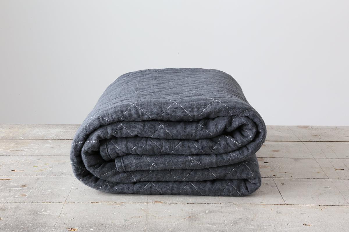 Charcoal Canvas Throw Blanket