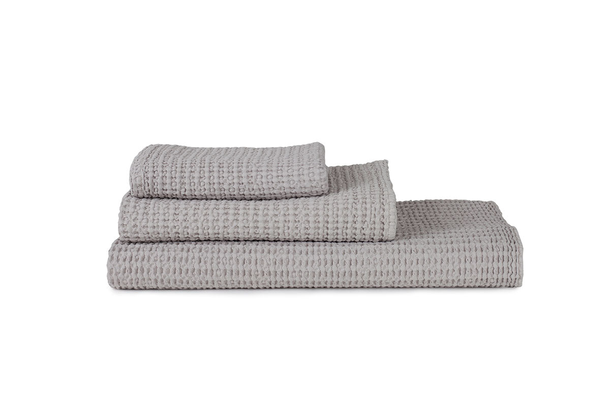 Light Grey Waffle Bath Towel