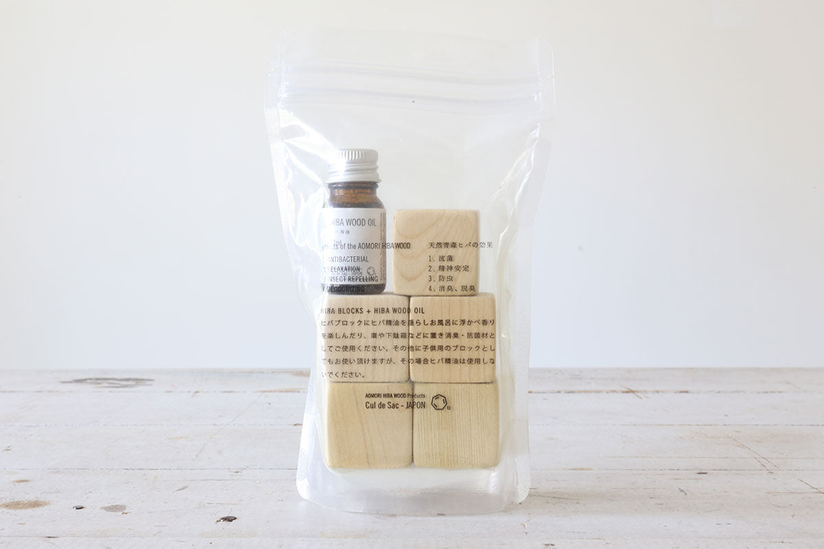Hiba Wood Blocks & Oil