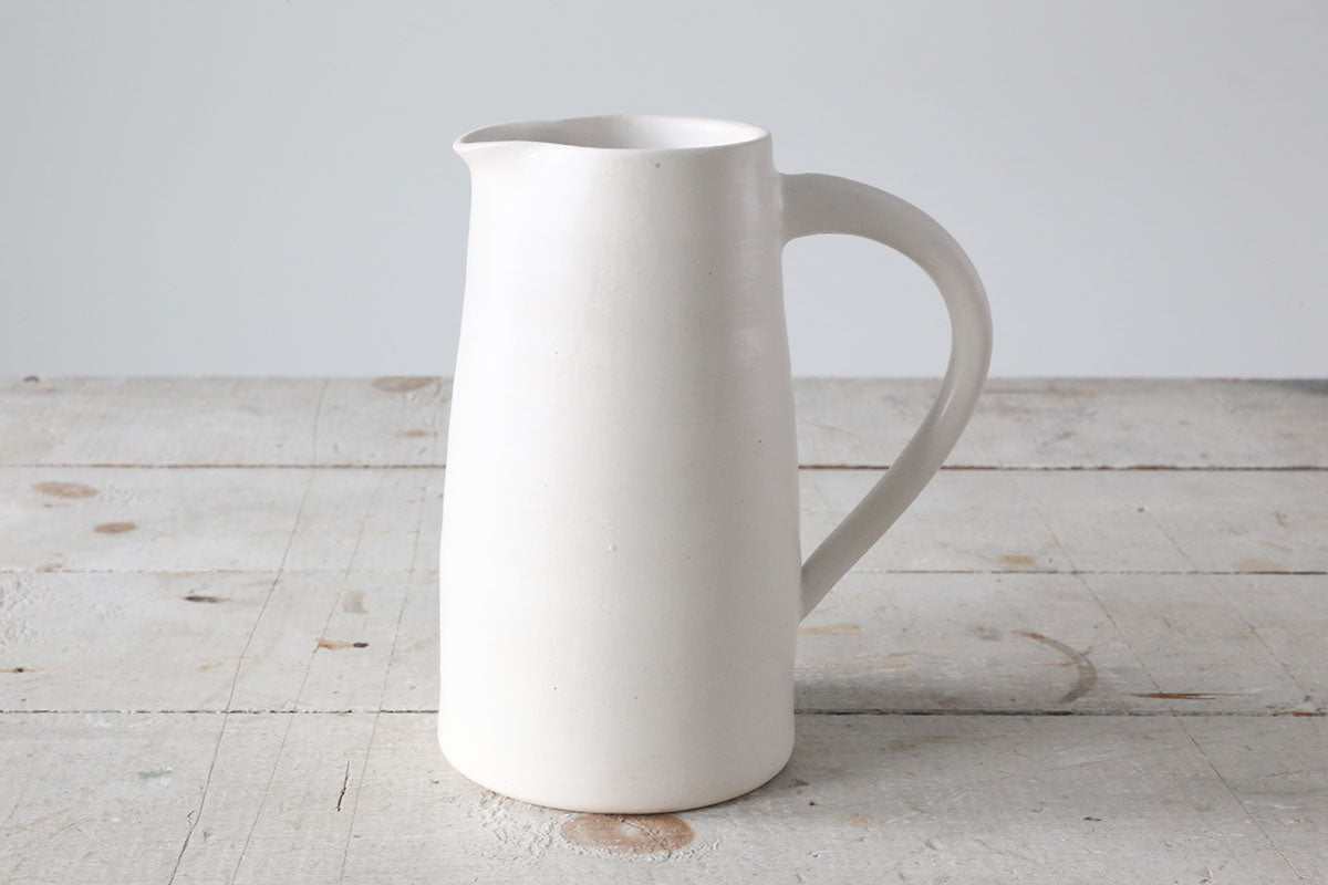 Natural White Pitcher #68