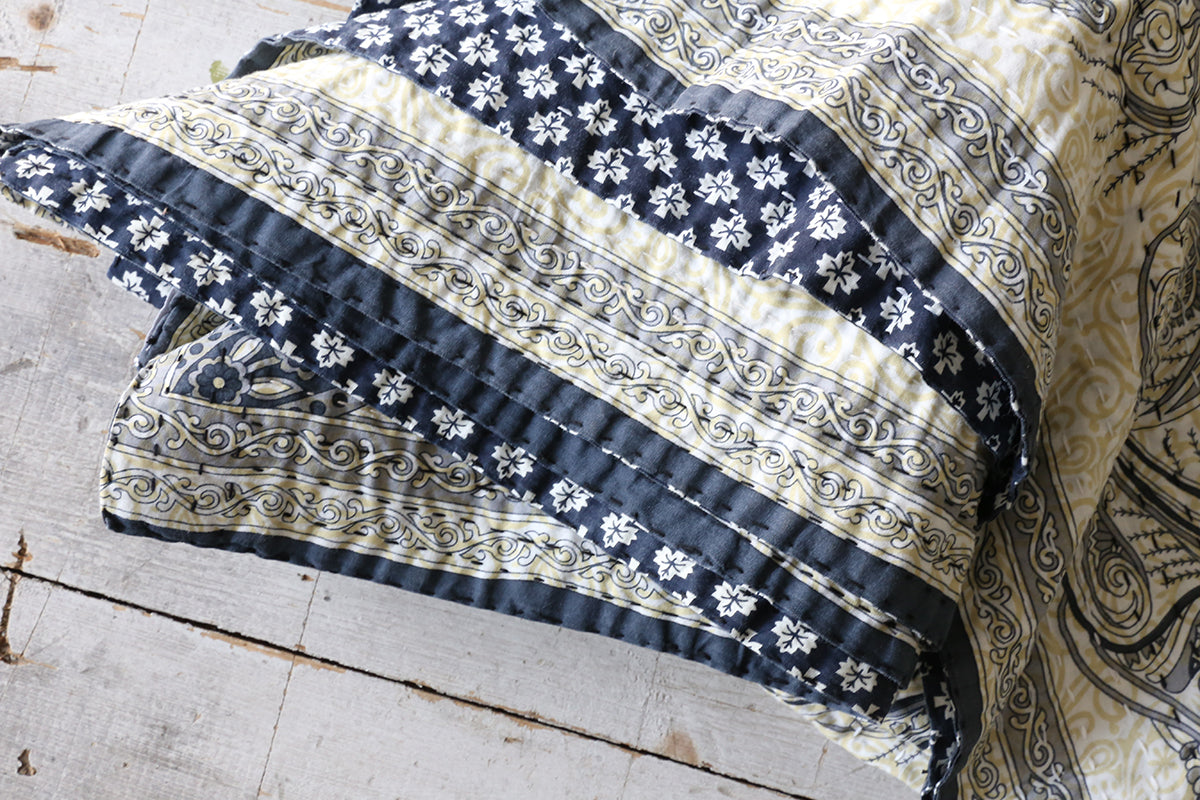 Navy Printed Blanket