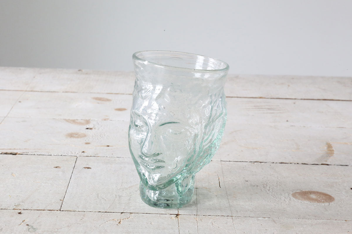 Glass Head Vase