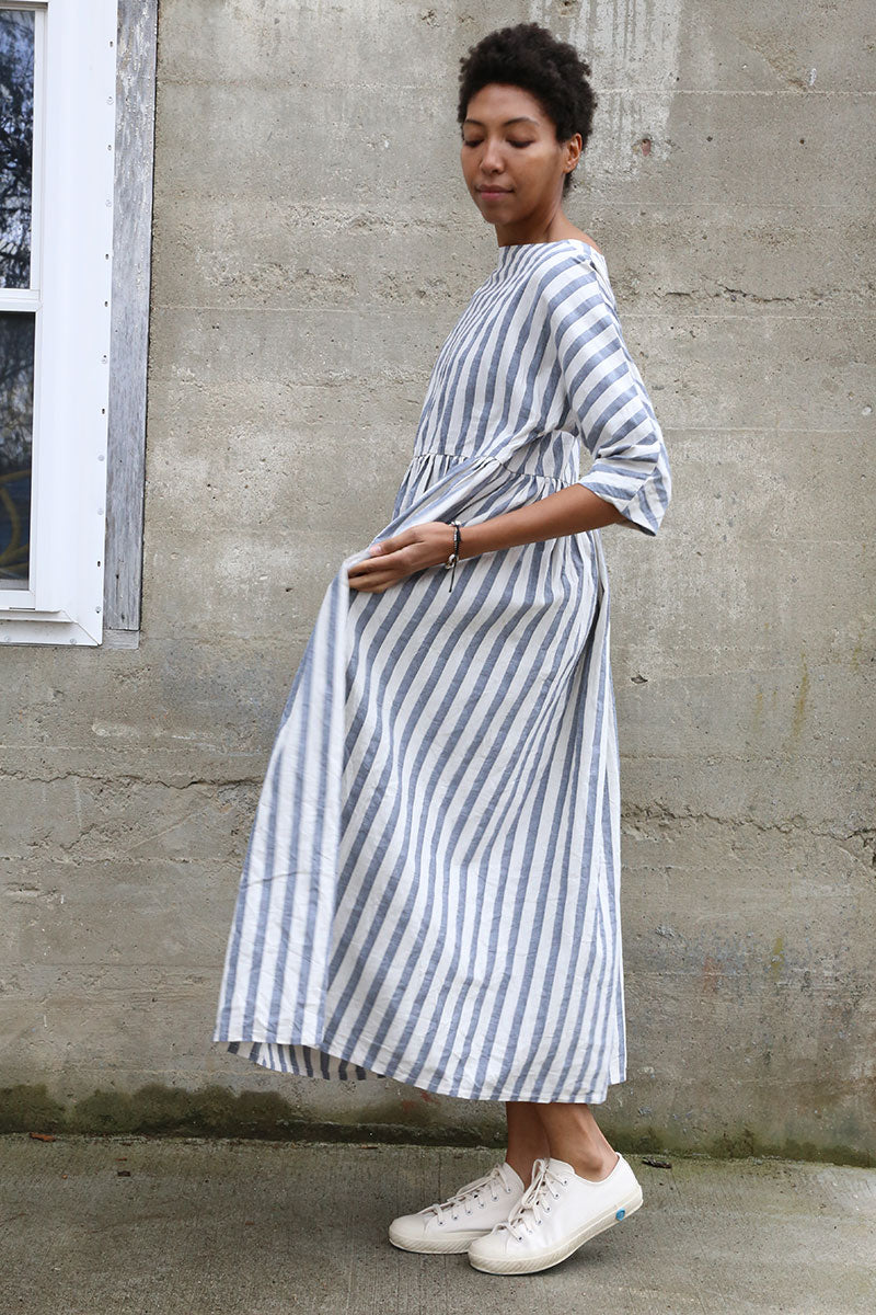 Blue Stripe Boating Dress