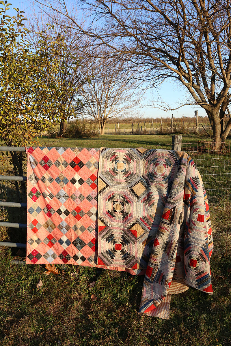 Antique Optical Log Cabin Quilt