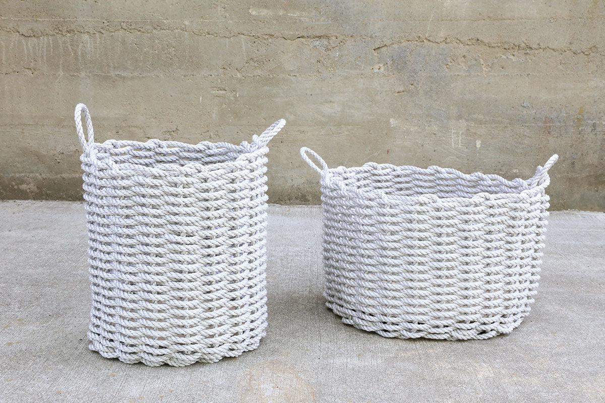 Fog Grey Wide Rope Basket