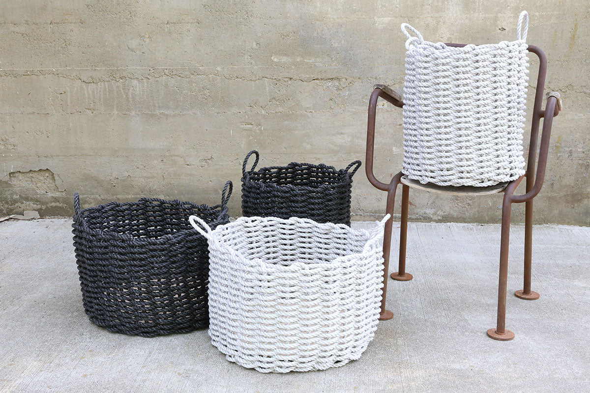 Charcoal Wide Rope Basket