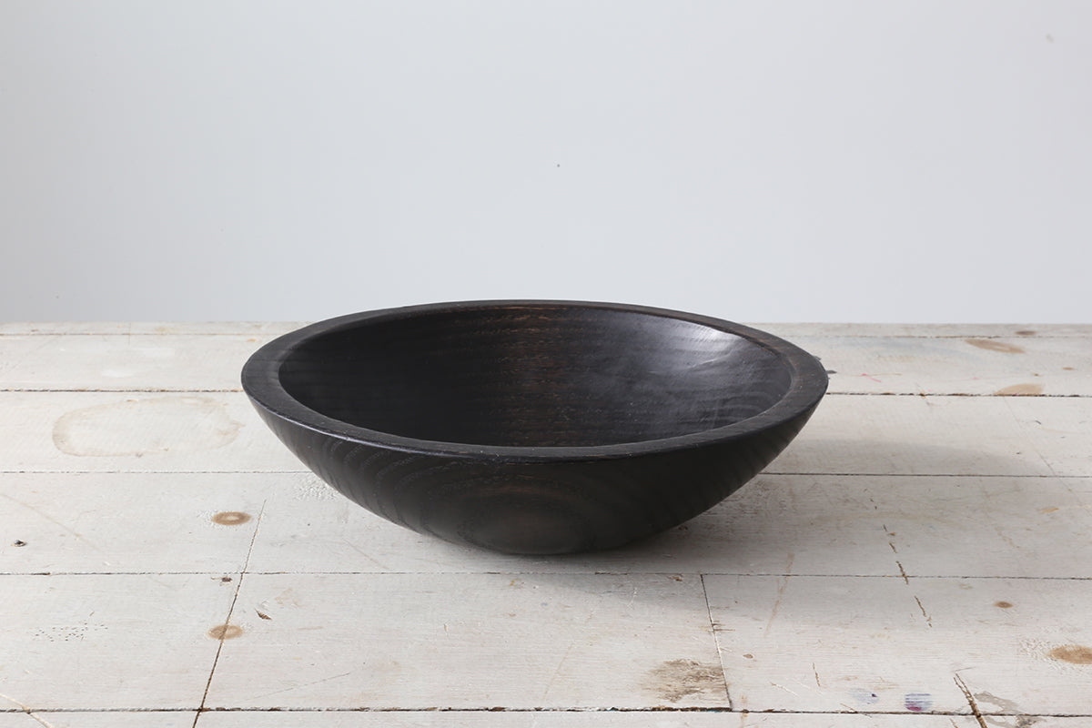 Black Ebonized Round Bowl 11""