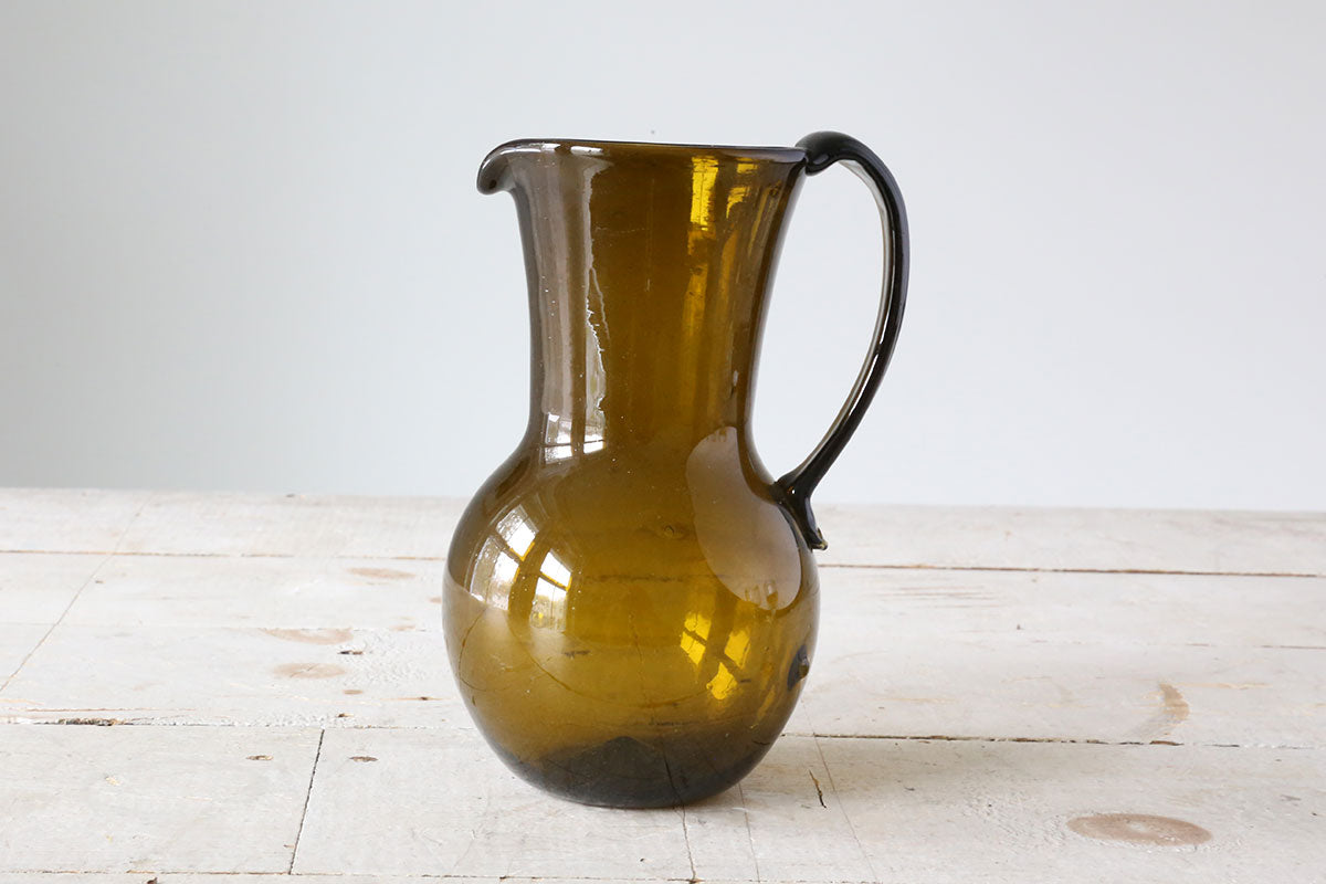 Brown Glass Pitcher