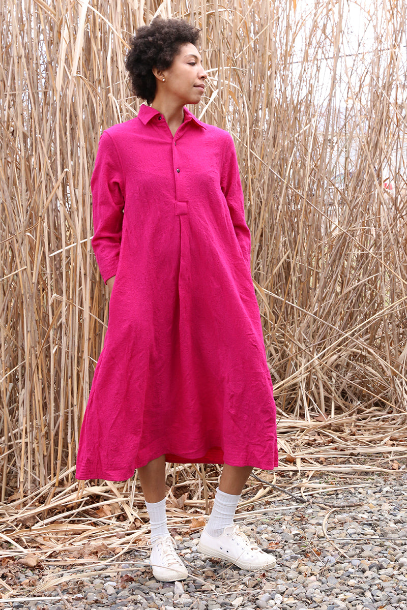 Fuchsia Chemise Dress