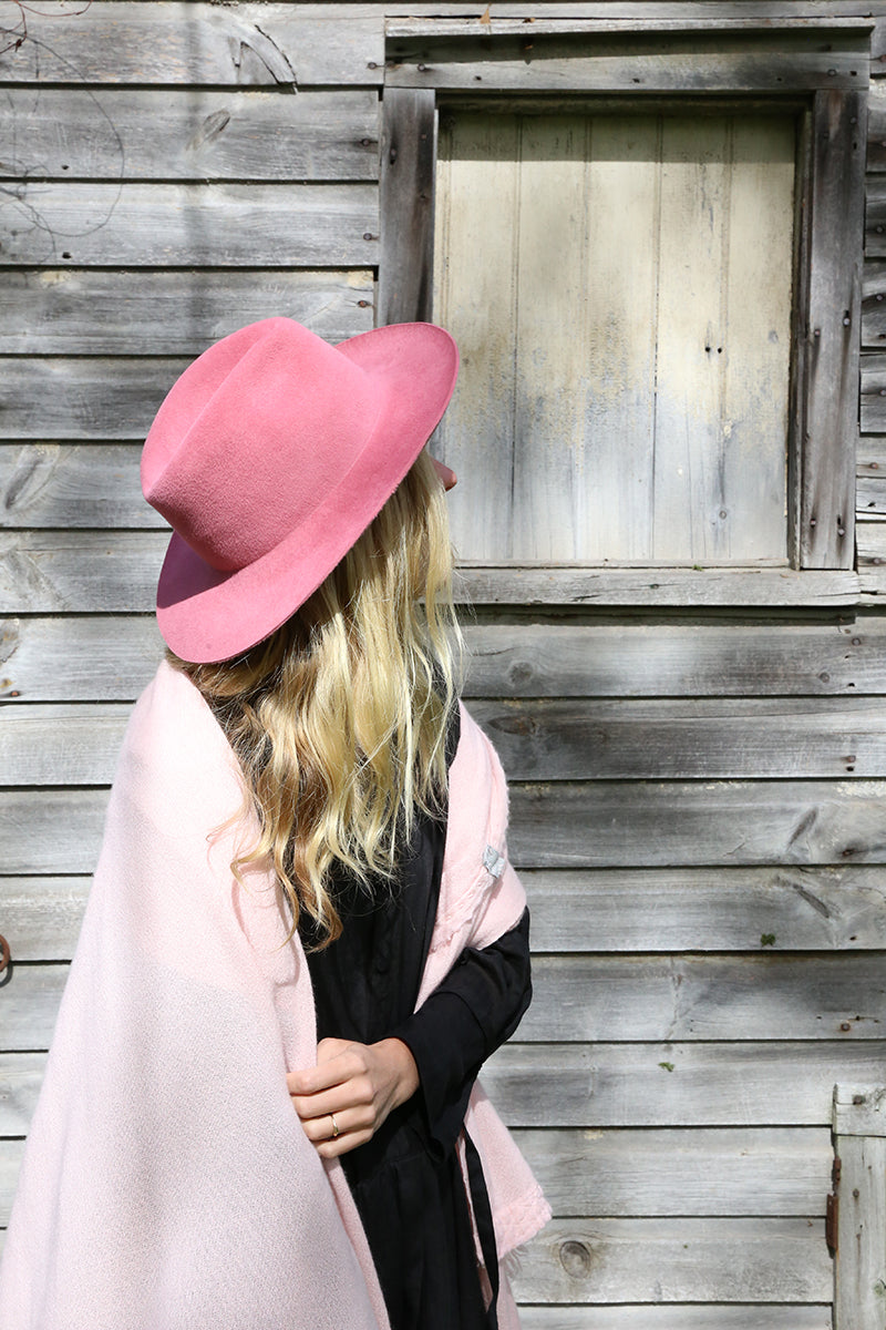 Rose Fedora Felt Hat