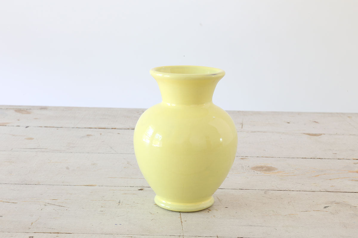 Small Yellow Ceramic Vase