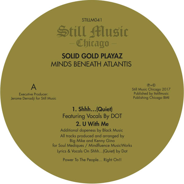 "Solid Gold Playaz - Minds Beneath Atlantis 12"" SOLD OUT"