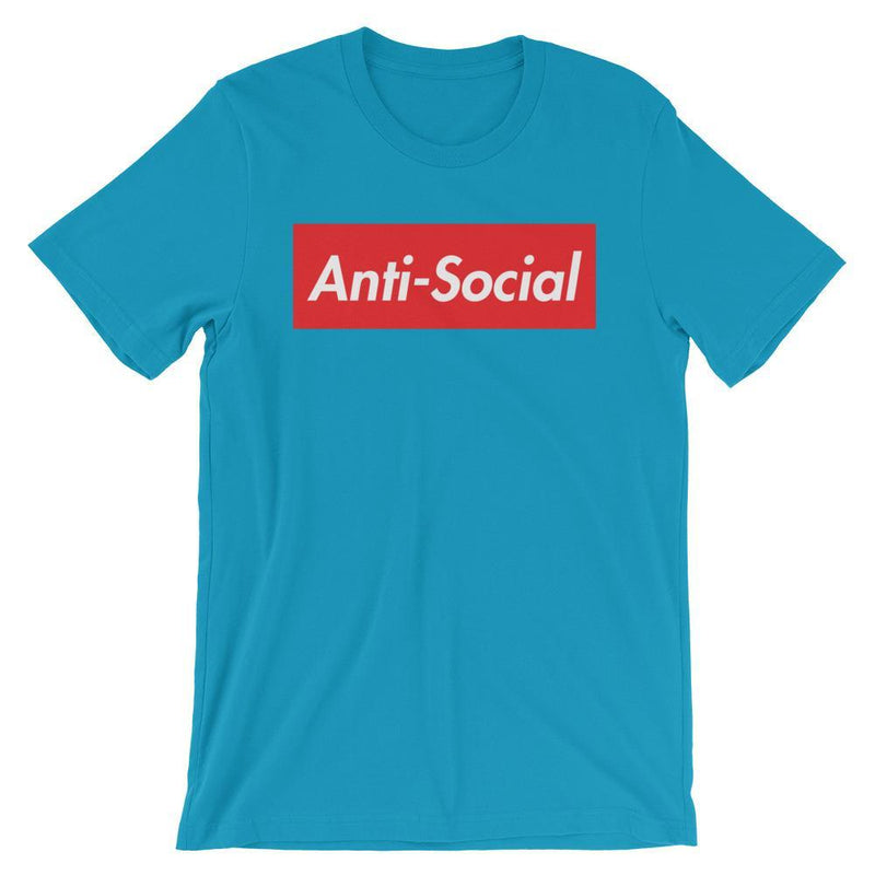 Repparel Anti-Social Aqua / S Hypebeast Streetwear Eco-Friendly Full Cotton T-Shirt