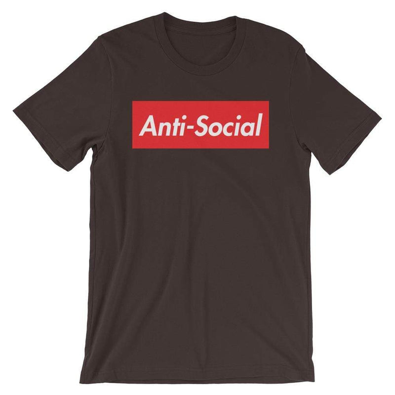 Repparel Anti-Social Brown / S Hypebeast Streetwear Eco-Friendly Full Cotton T-Shirt