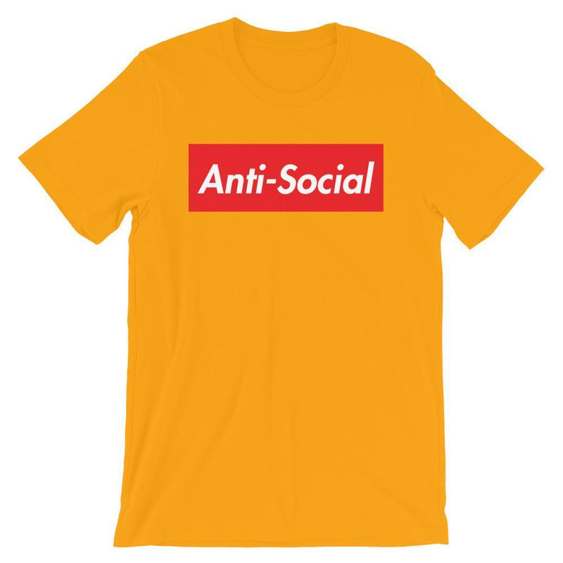 Repparel Anti-Social Gold / S Hypebeast Streetwear Eco-Friendly Full Cotton T-Shirt