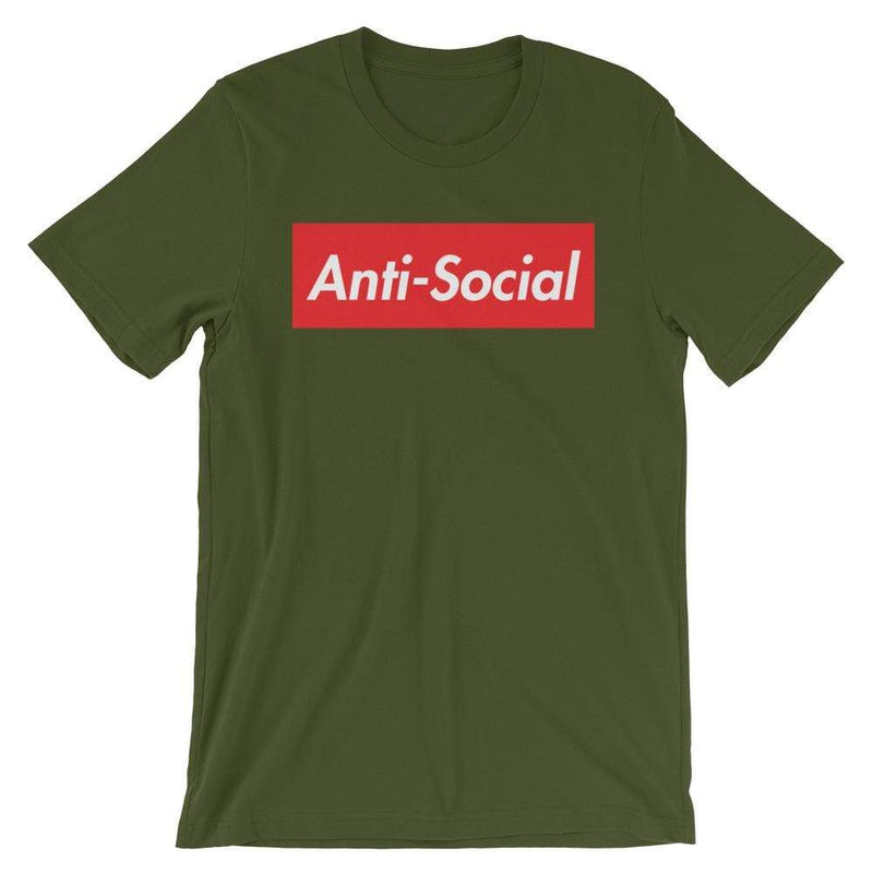 Repparel Anti-Social Olive / S Hypebeast Streetwear Eco-Friendly Full Cotton T-Shirt
