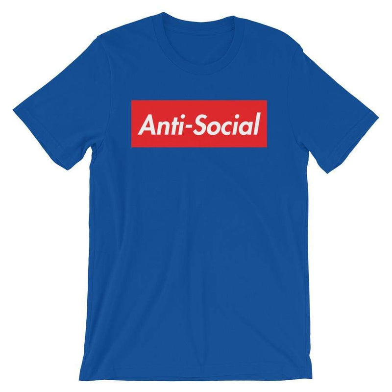 Repparel Anti-Social True Royal / S Hypebeast Streetwear Eco-Friendly Full Cotton T-Shirt