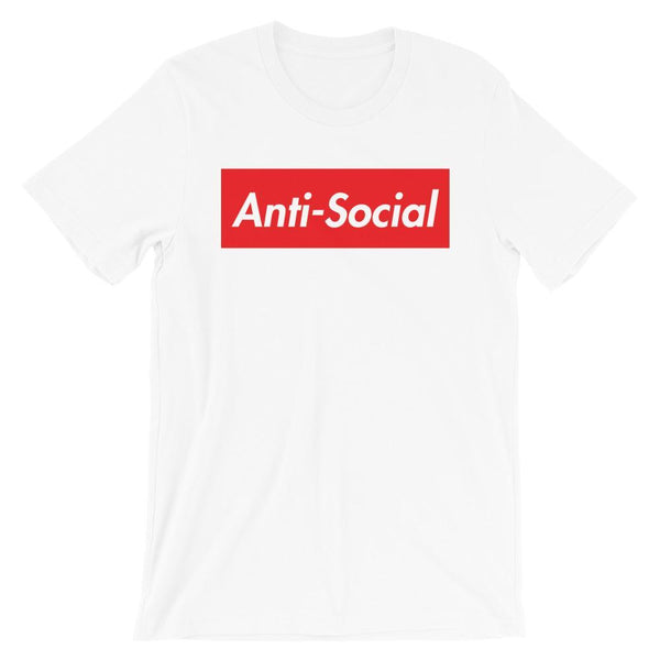 Repparel Anti-Social White / XS Hypebeast Streetwear Eco-Friendly Full Cotton T-Shirt