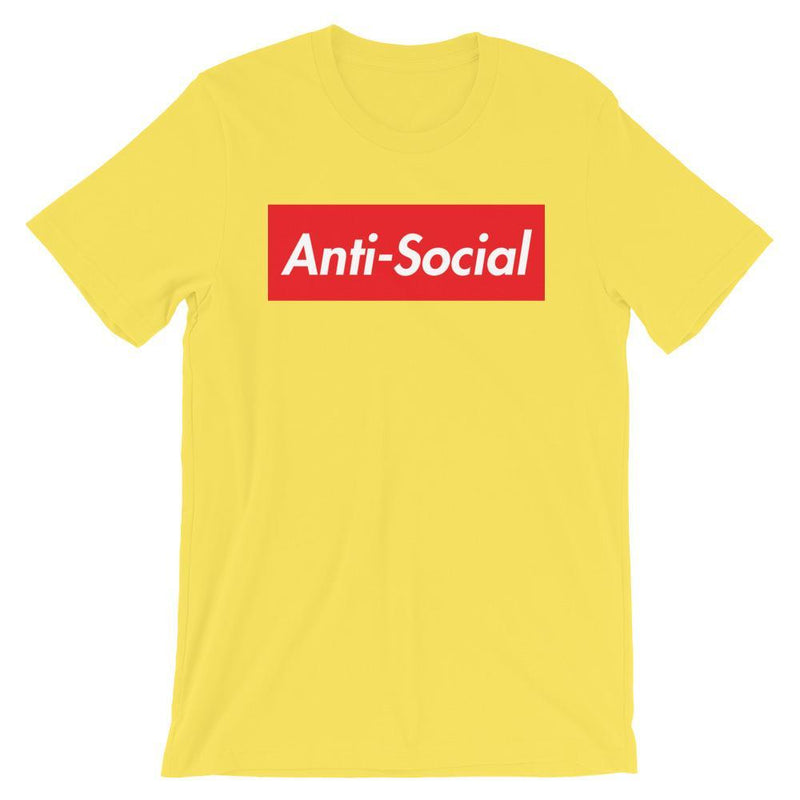 Repparel Anti-Social Yellow / S Hypebeast Streetwear Eco-Friendly Full Cotton T-Shirt