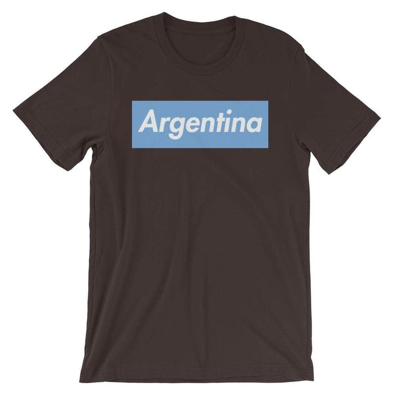 Repparel Argentina Brown / S Hypebeast Streetwear Eco-Friendly Full Cotton T-Shirt
