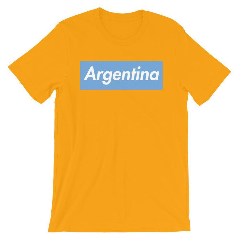Repparel Argentina Gold / S Hypebeast Streetwear Eco-Friendly Full Cotton T-Shirt