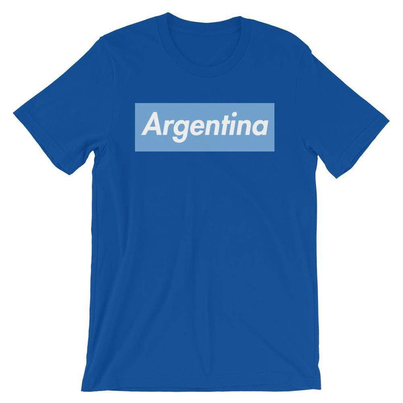 Repparel Argentina True Royal / S Hypebeast Streetwear Eco-Friendly Full Cotton T-Shirt
