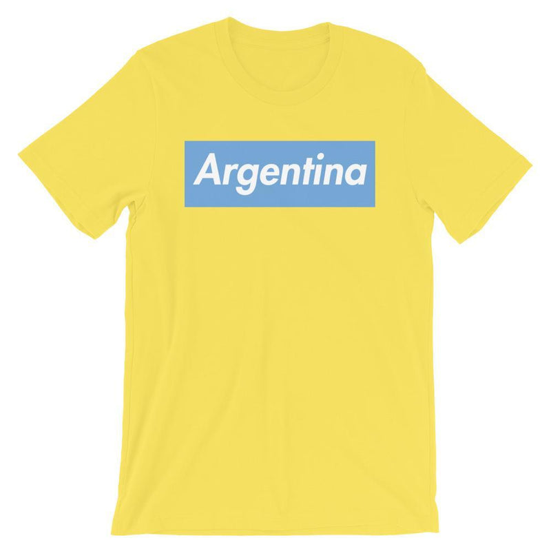 Repparel Argentina Yellow / S Hypebeast Streetwear Eco-Friendly Full Cotton T-Shirt