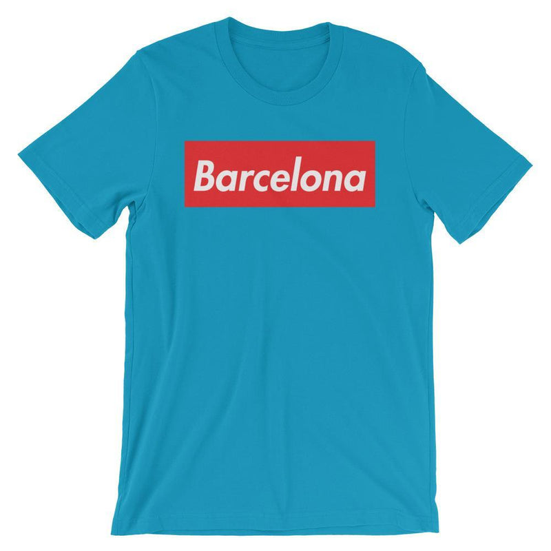 Repparel Barcelona Aqua / S Hypebeast Streetwear Eco-Friendly Full Cotton T-Shirt