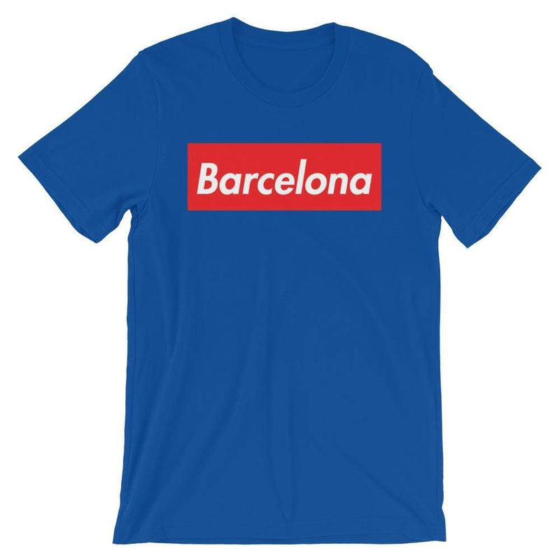 Repparel Barcelona True Royal / S Hypebeast Streetwear Eco-Friendly Full Cotton T-Shirt