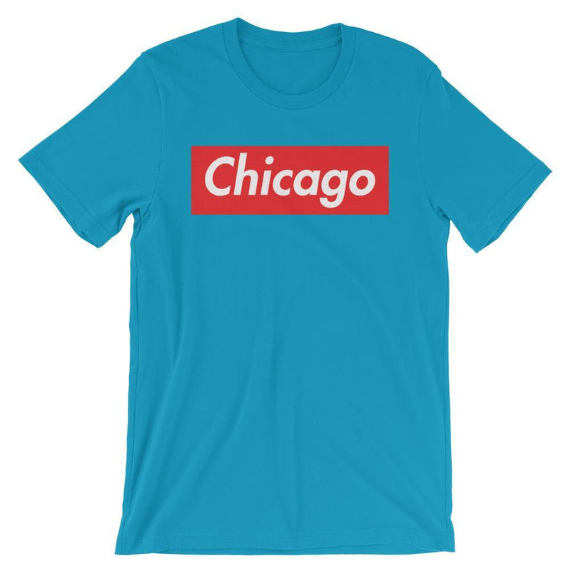 Repparel Chicago Aqua / S Hypebeast Streetwear Eco-Friendly Full Cotton T-Shirt