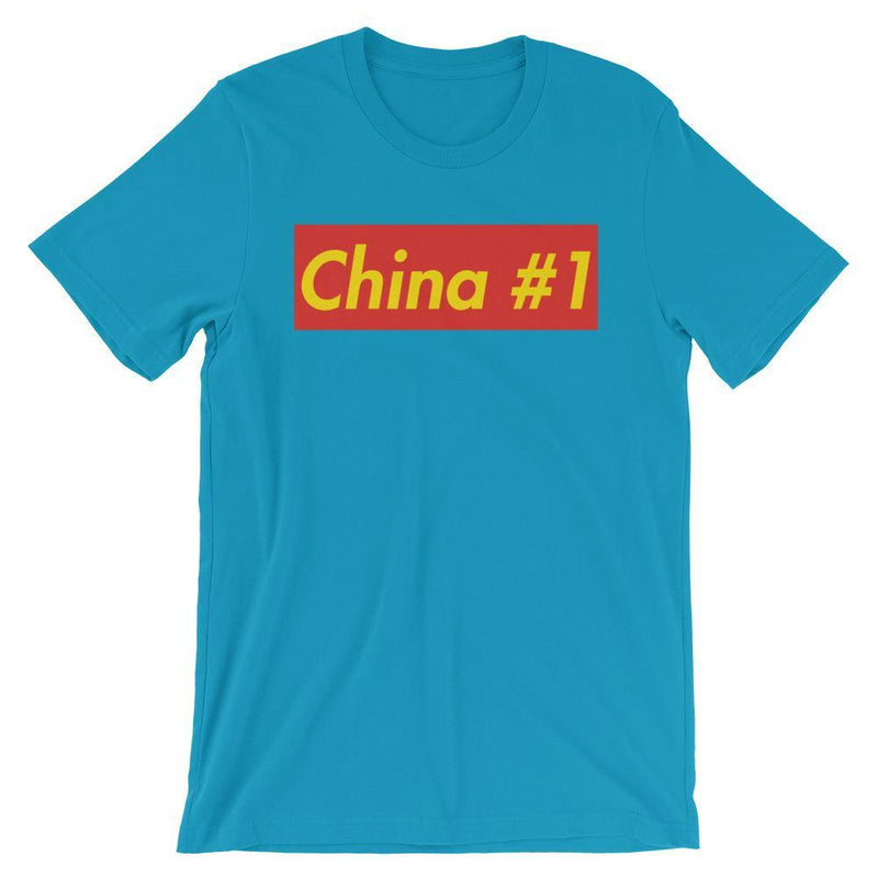 Repparel China #1 Aqua / S Hypebeast Streetwear Eco-Friendly Full Cotton T-Shirt