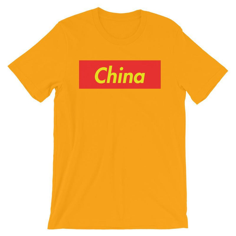 Repparel China Gold / S Hypebeast Streetwear Eco-Friendly Full Cotton T-Shirt