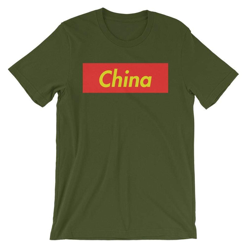 Repparel China Olive / S Hypebeast Streetwear Eco-Friendly Full Cotton T-Shirt