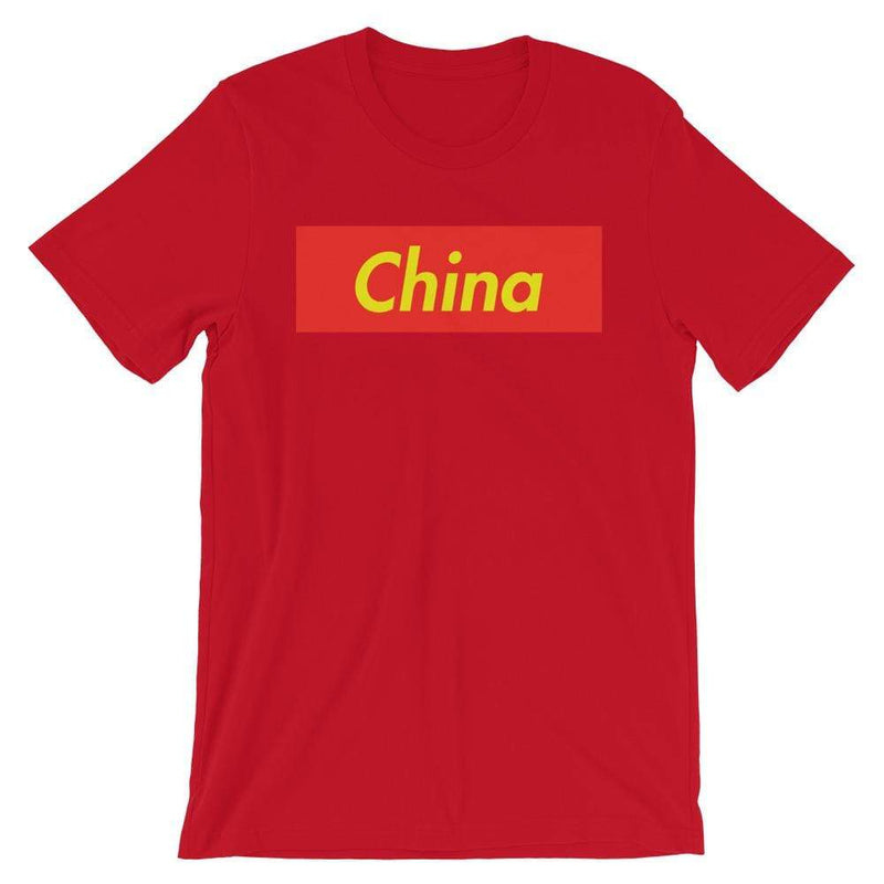 Repparel China Red / S Hypebeast Streetwear Eco-Friendly Full Cotton T-Shirt