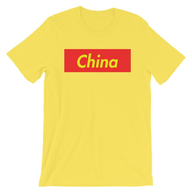 Repparel China Yellow / S Hypebeast Streetwear Eco-Friendly Full Cotton T-Shirt