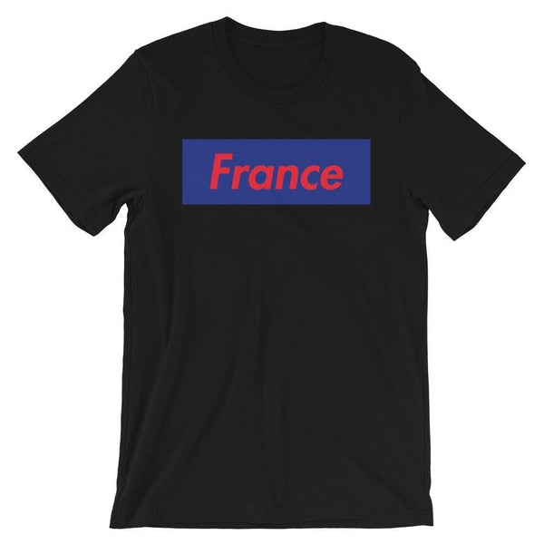 Repparel France Black / XS Hypebeast Streetwear Eco-Friendly Full Cotton T-Shirt