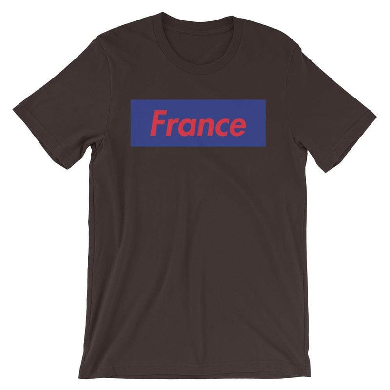 Repparel France Brown / S Hypebeast Streetwear Eco-Friendly Full Cotton T-Shirt