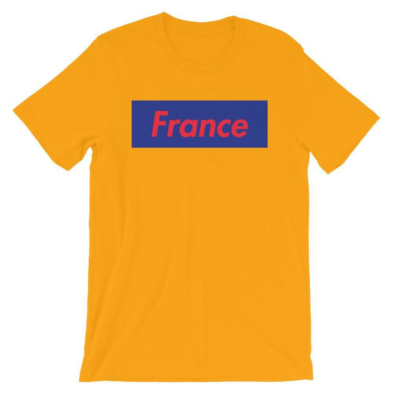 Repparel France Gold / S Hypebeast Streetwear Eco-Friendly Full Cotton T-Shirt