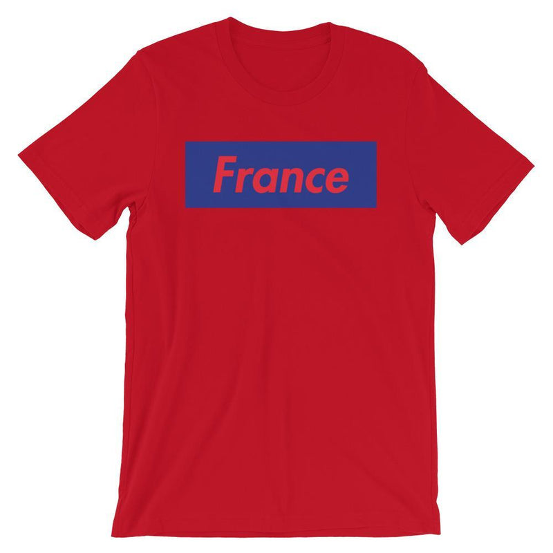 Repparel France Red / S Hypebeast Streetwear Eco-Friendly Full Cotton T-Shirt