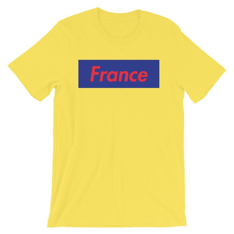 Repparel France Yellow / S Hypebeast Streetwear Eco-Friendly Full Cotton T-Shirt