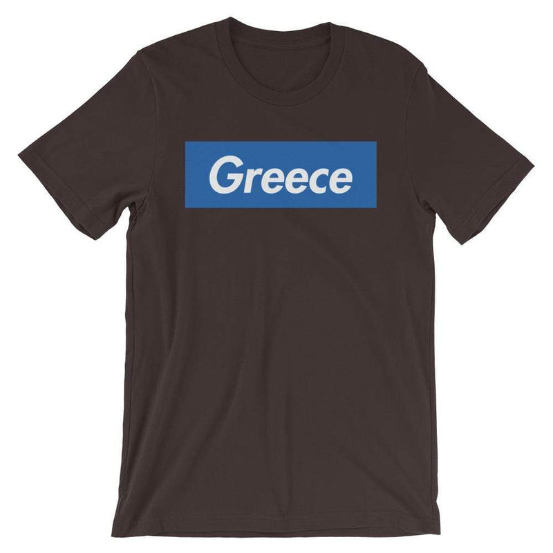 Repparel Greece Brown / S Hypebeast Streetwear Eco-Friendly Full Cotton T-Shirt