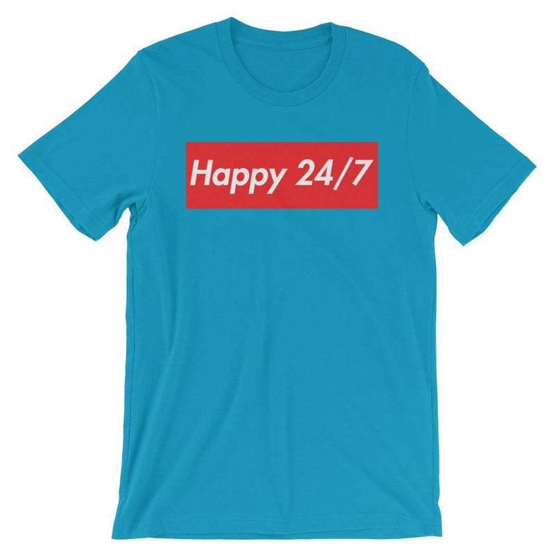 Repparel Happy 24/7 Aqua / S Hypebeast Streetwear Eco-Friendly Full Cotton T-Shirt
