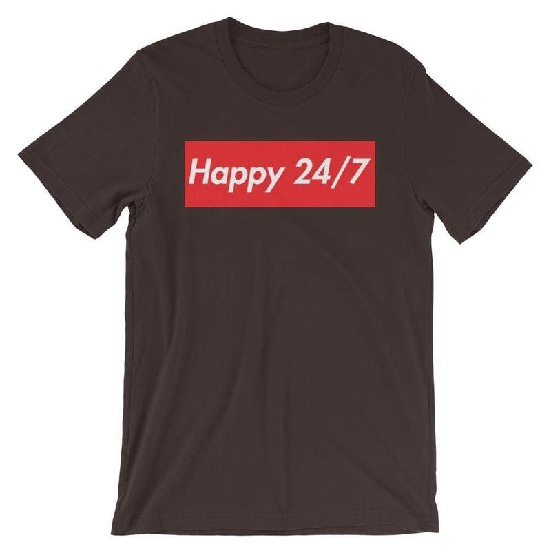 Repparel Happy 24/7 Brown / S Hypebeast Streetwear Eco-Friendly Full Cotton T-Shirt