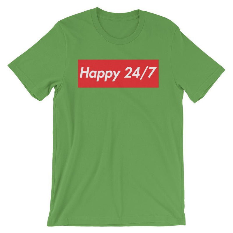 Repparel Happy 24/7 Leaf / S Hypebeast Streetwear Eco-Friendly Full Cotton T-Shirt