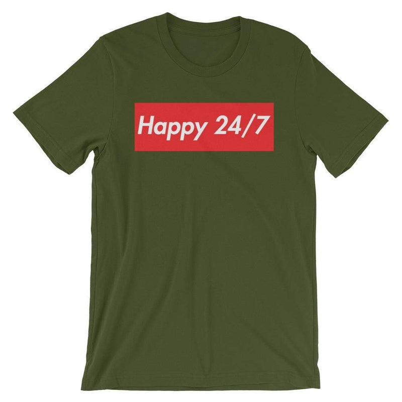 Repparel Happy 24/7 Olive / S Hypebeast Streetwear Eco-Friendly Full Cotton T-Shirt