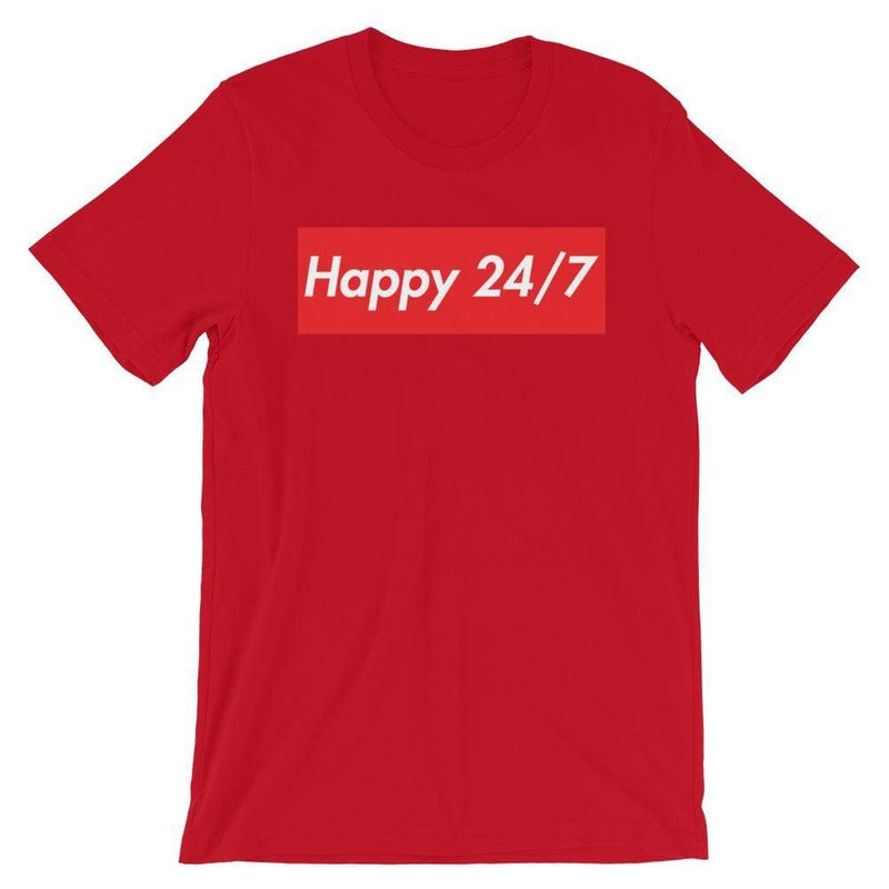 Repparel Happy 24/7 Red / S Hypebeast Streetwear Eco-Friendly Full Cotton T-Shirt