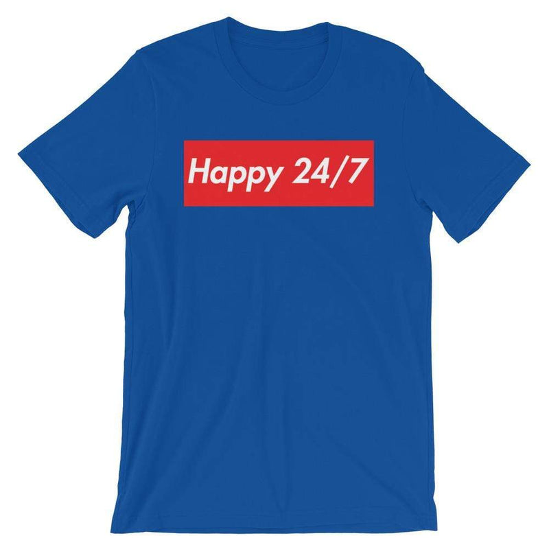 Repparel Happy 24/7 True Royal / S Hypebeast Streetwear Eco-Friendly Full Cotton T-Shirt