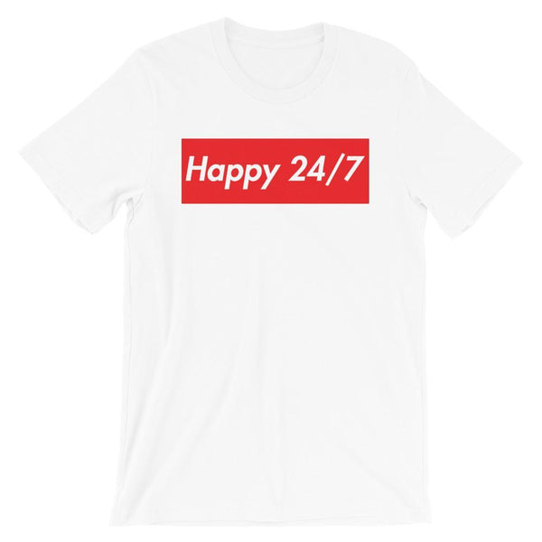 Repparel Happy 24/7 White / XS Hypebeast Streetwear Eco-Friendly Full Cotton T-Shirt