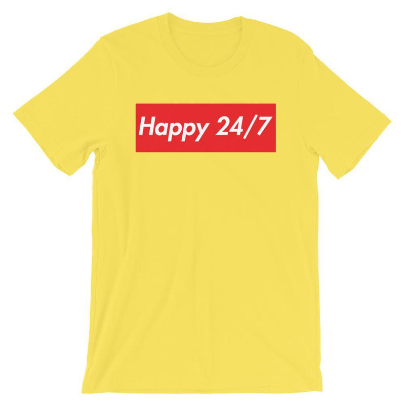Repparel Happy 24/7 Yellow / S Hypebeast Streetwear Eco-Friendly Full Cotton T-Shirt